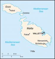 マルタ共和国の地図