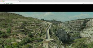 イムジャール・イシニへと続く一本道