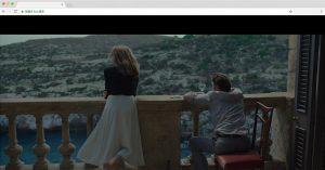 二人が滞在する部屋のバルコニーからの眺望